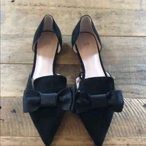 H&M black bow flats